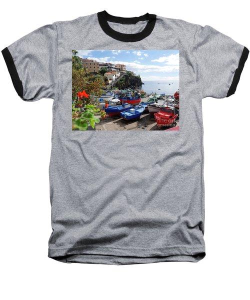 Fishing Village On The Island Of Madeira Baseball T-Shirt