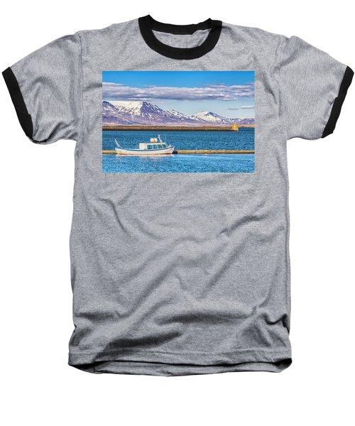 Fishing Baseball T-Shirt by Wade Courtney