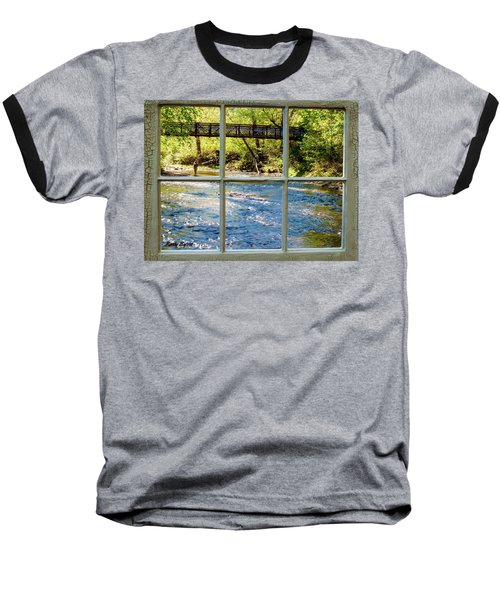 Fishing Window Baseball T-Shirt