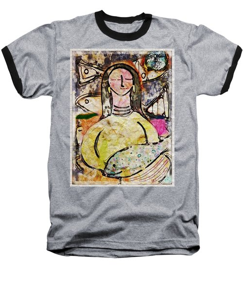 Baseball T-Shirt featuring the digital art Fishmonger's Wife by Alexis Rotella