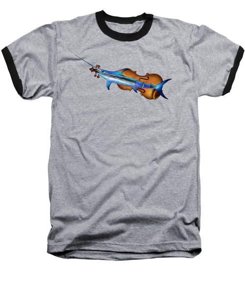 Fisholin V1 - Instrumental Fish Baseball T-Shirt by Cersatti