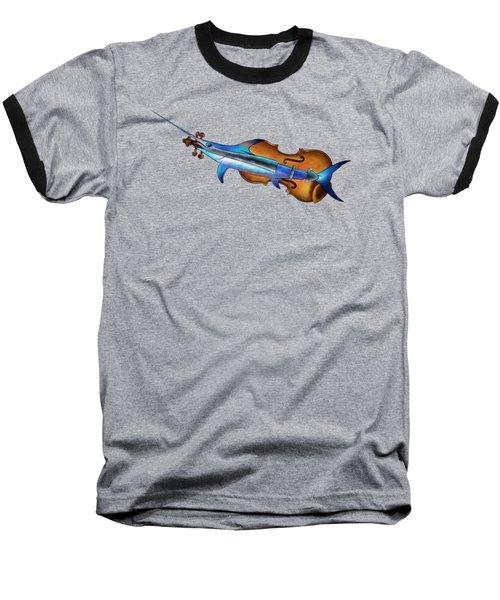 Fisholin V1 - Instrumental Fish Baseball T-Shirt