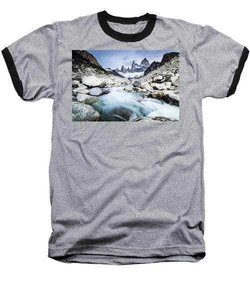 Fitz Roy On A Cloudy Day  Baseball T-Shirt