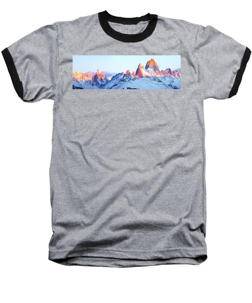 Baseball T-Shirt featuring the photograph Fitz Roy Peak by Phyllis Peterson