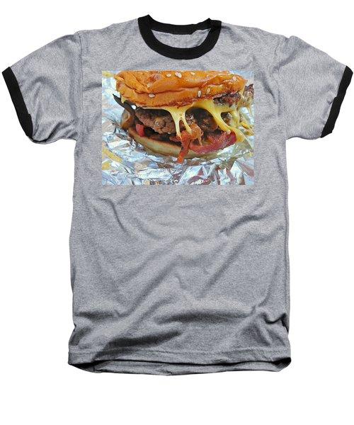Baseball T-Shirt featuring the photograph Five Guys Cheeseburger by Robert Knight