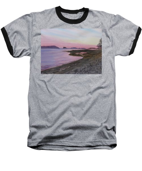 Baseball T-Shirt featuring the painting Five Islands - Bay Of Fundy by Joel Deutsch