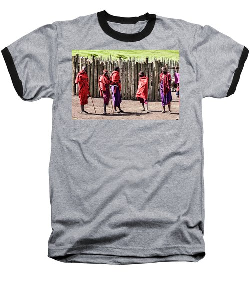 Five Maasai Warriors Baseball T-Shirt