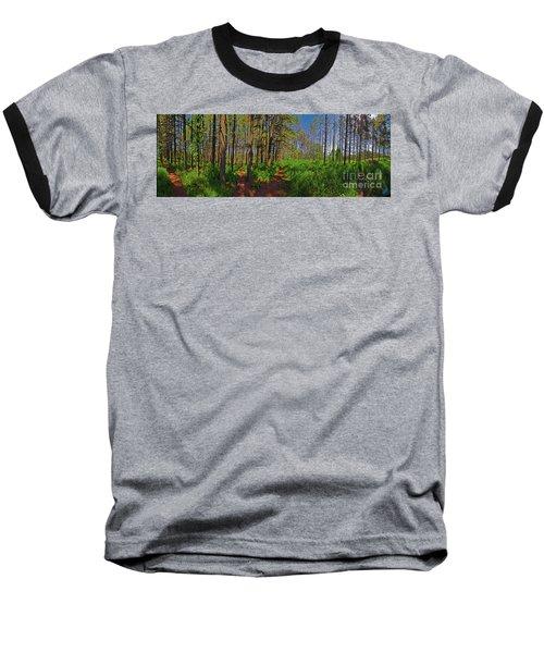 Paths, Pines 360 Baseball T-Shirt