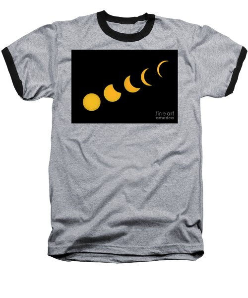Five Phases Of The Eclipse Baseball T-Shirt