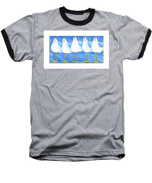 Five Seagulls Baseball T-Shirt