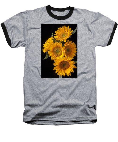 Five Sunflowers Baseball T-Shirt