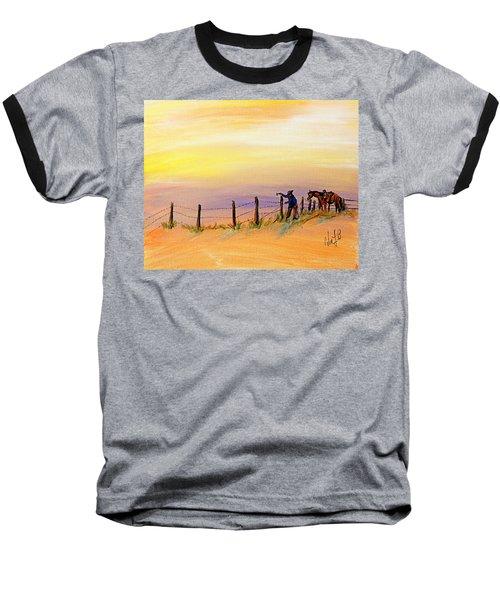 Fix On The Prairie Baseball T-Shirt
