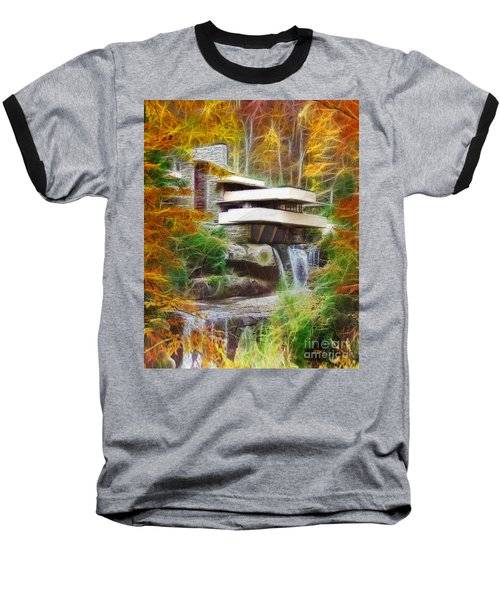 Fixer Upper - Frank Lloyd Wright's Fallingwater Baseball T-Shirt