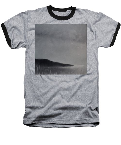 Baseball T-Shirt featuring the painting Fjord Landscape by Tone Aanderaa