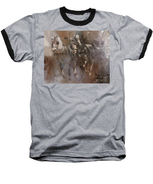 Fjords On The Run Baseball T-Shirt by Kathy Russell