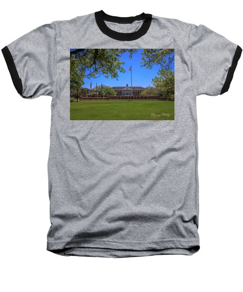 Baseball T-Shirt featuring the photograph Flag At Entrance by Gregory Daley  PPSA