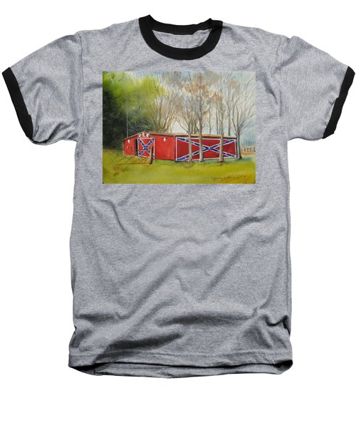 Flag Barn Baseball T-Shirt