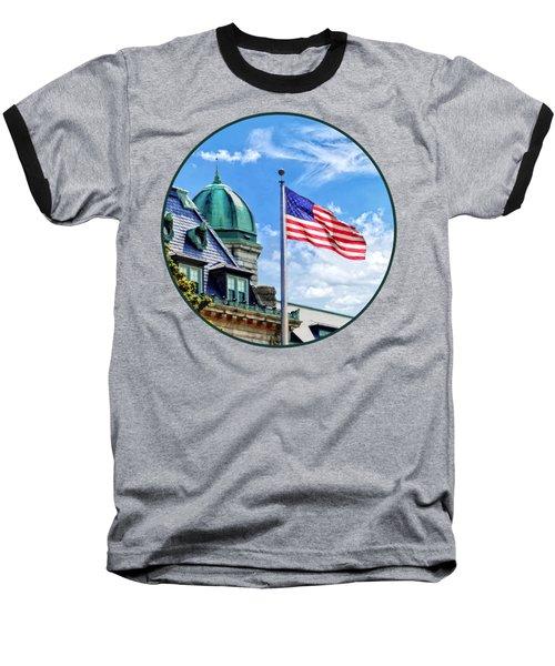 Flag Flying Over Tecumseh Court Baseball T-Shirt