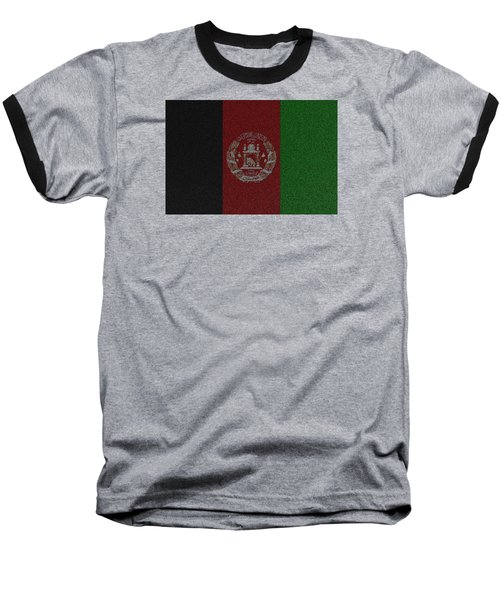 Baseball T-Shirt featuring the digital art Flag Of Afghanistan by Jeff Iverson