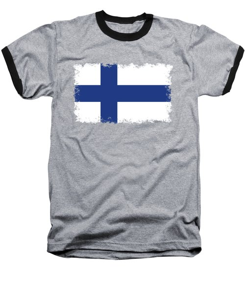 Flag Of Finland Baseball T-Shirt by Bruce Stanfield