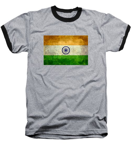 Flag Of India Retro Vintage Version Baseball T-Shirt by Bruce Stanfield