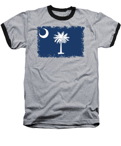 Flag Of South Carolina Authentic Version Baseball T-Shirt