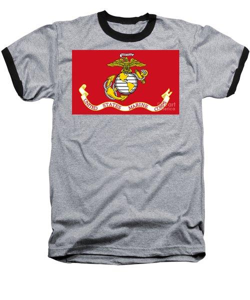 Flag Of The United States Marine Corps Baseball T-Shirt