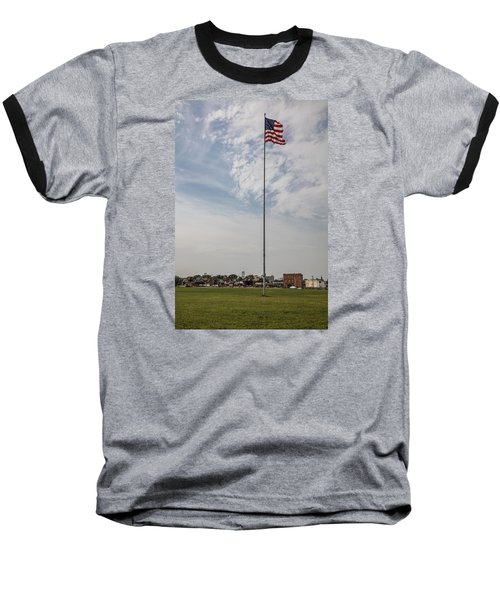 Flag Poll At Detroit Tiger Stadium  Baseball T-Shirt by John McGraw