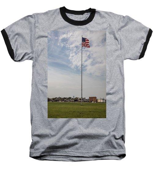 Flag Poll At Detroit Tiger Stadium  Baseball T-Shirt