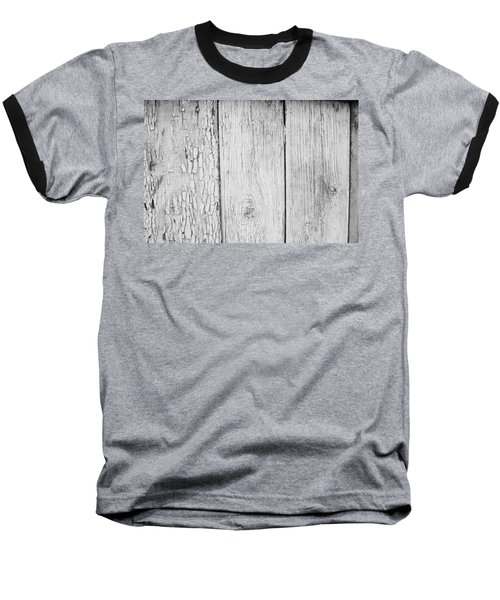 Baseball T-Shirt featuring the photograph Flaking Grey Wood Paint by John Williams
