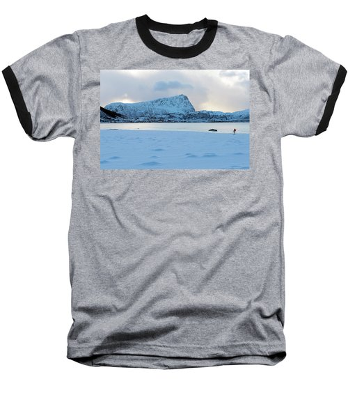Baseball T-Shirt featuring the photograph Flakstad, Lofoten, by Dubi Roman