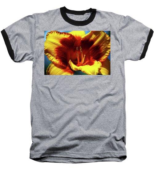 Flame Daylily 1238 H_2 Baseball T-Shirt