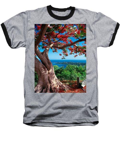 Flame Tree St Thomas Baseball T-Shirt