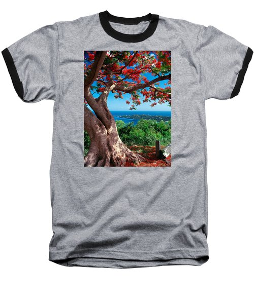 Flame Tree St Thomas Baseball T-Shirt