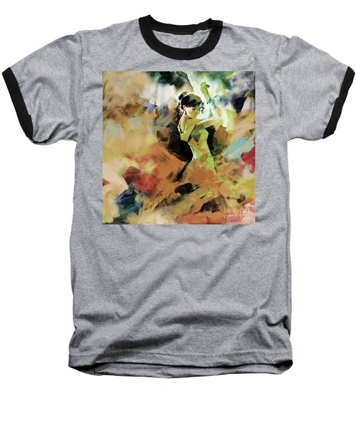 Baseball T-Shirt featuring the painting Flamenco 56y3 by Gull G