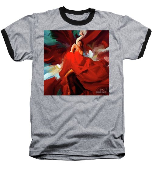 Baseball T-Shirt featuring the painting Flamenco Dance 7750 by Gull G