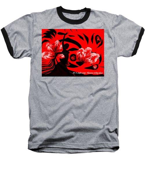 Flamenco-fairy Dance Baseball T-Shirt by Dr Loifer Vladimir