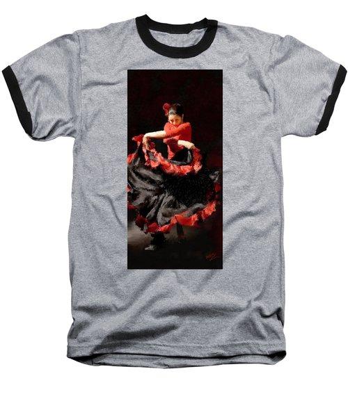 Flamenco Frills Triptych Panel 3 Of 3 Baseball T-Shirt