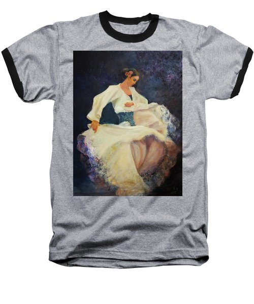 Flamenco In White Baseball T-Shirt