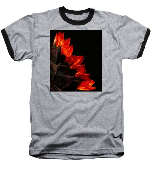Baseball T-Shirt featuring the photograph Flames by Judy Vincent