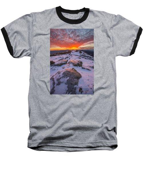 Flames Over Haystack Baseball T-Shirt
