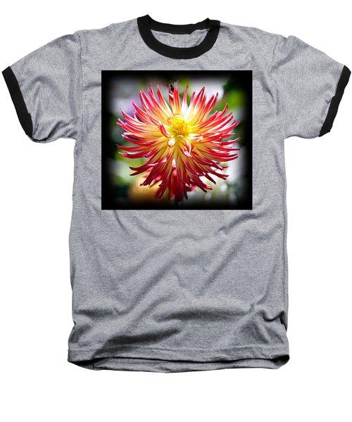 Baseball T-Shirt featuring the photograph Flaming Beauty by AJ Schibig