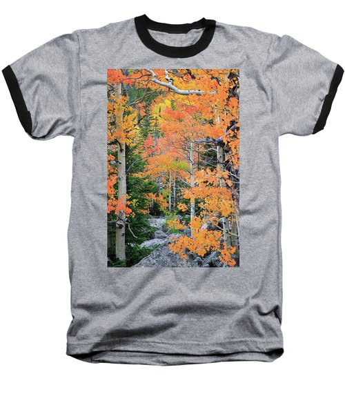 Flaming Forest Baseball T-Shirt