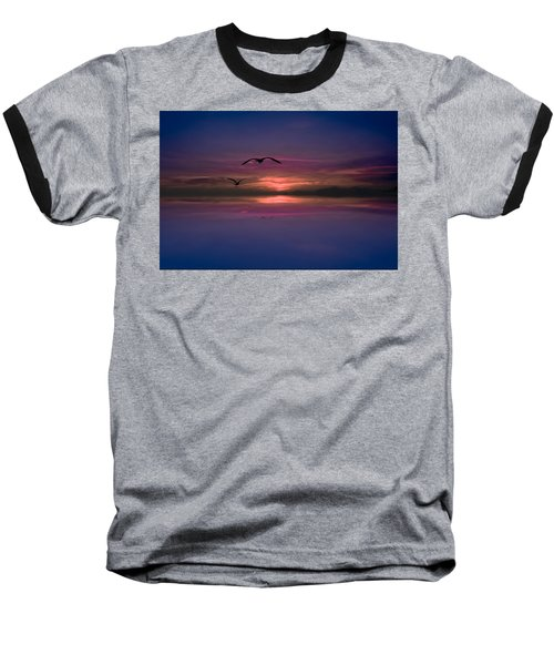 Flaming Sky  Baseball T-Shirt
