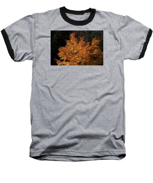 Baseball T-Shirt featuring the photograph Flaming Tree Brush by Deborah  Crew-Johnson
