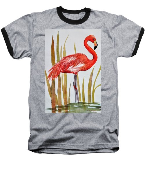Flamingo Baseball T-Shirt