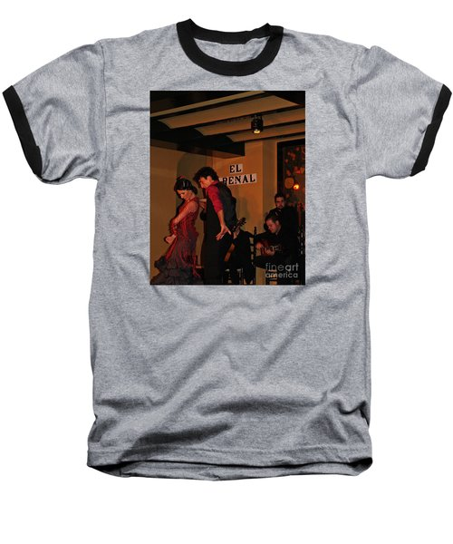 Baseball T-Shirt featuring the photograph Flamingo Dancers by Haleh Mahbod