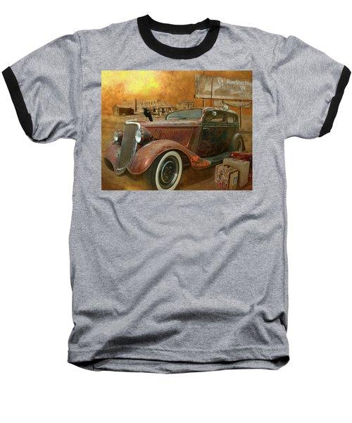 Flamingo Land Baseball T-Shirt