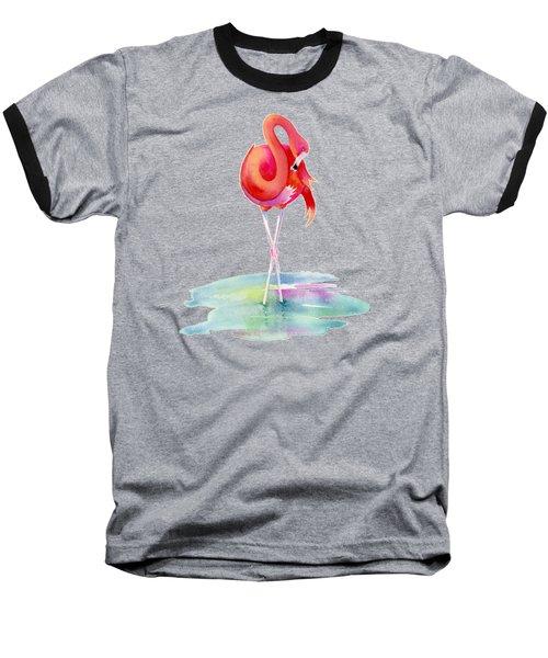Flamingo Primp Baseball T-Shirt