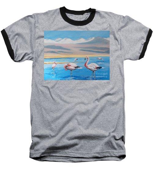Flamingos Baseball T-Shirt